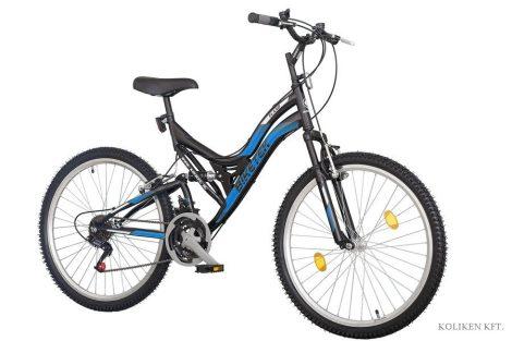 Biketek Eland 26 összteleszkópos MTB kerékpár fekete-kék