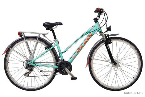 Koliken Gisu Alu női trekking kerékpár zöld