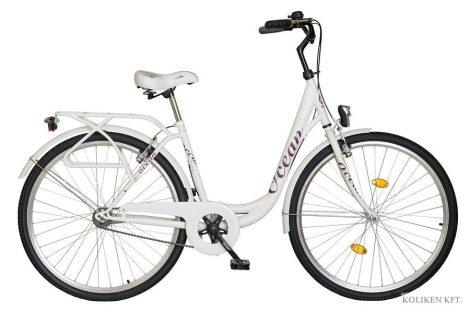 Koliken Ocean 28 kontrás városi kerékpár fehér