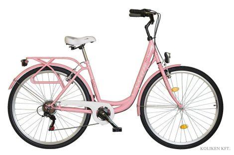 Koliken Ocean 28 6 sebességes városi kerékpár ciklámen