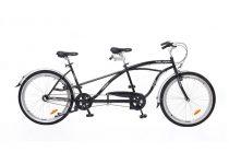 Neuzer Twilight tandem kerékpár Fekete