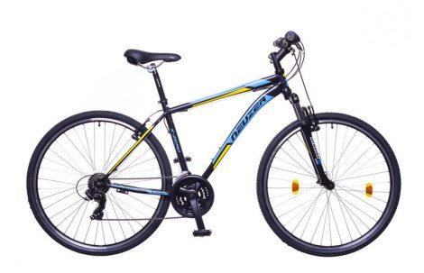 "Neuzer X-Zero 19"" férfi crosstrekking kerékpár fekete-sárga"