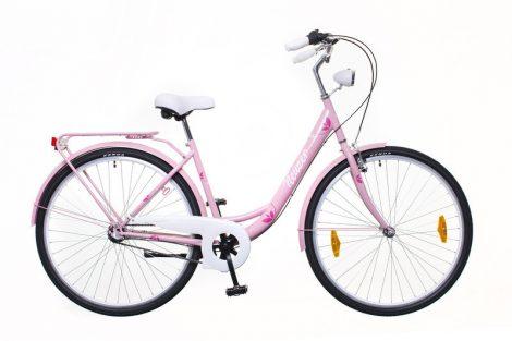 Neuzer Balaton Plus 3 seb. városi kerékpár Rózsaszín