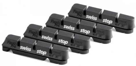 SwissStop FlashPRO Original Black Shimano/SRAM országúti alu 4 db fékpofa