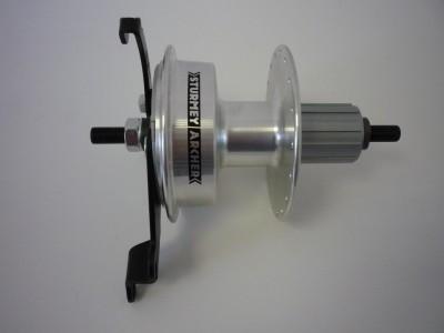 Sturmey Archer X-RDC hátsó agy [ezüst, 36 L]