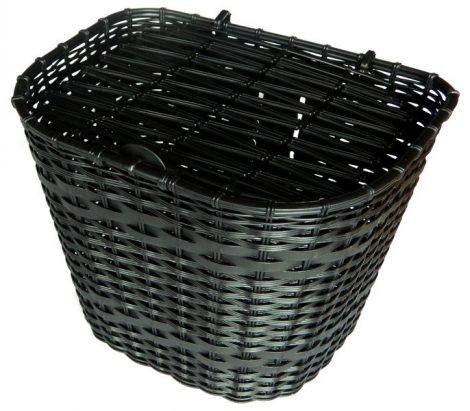 Fekete műanyag első kosár