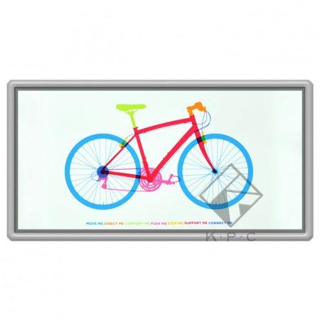 Fitness bike hűtőmágnes