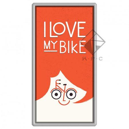 I love my bike hűtőmágnes