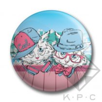 KPC Snow Kitty 03 kitűző
