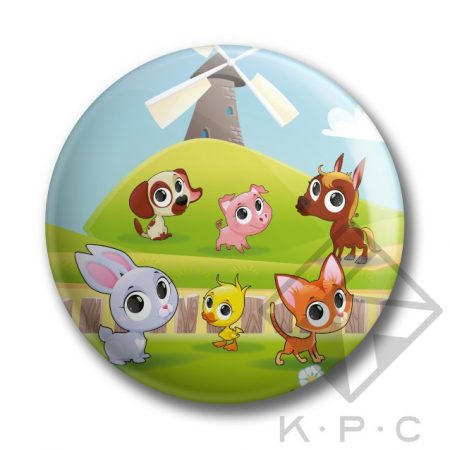 KPC My Little Farm 01 kitűző