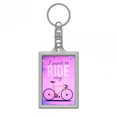 I want to ride my cycle pink kulcstartó 25x36mm