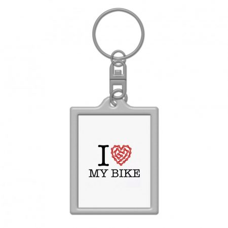 I love my bike kulcstartó 35x45mm