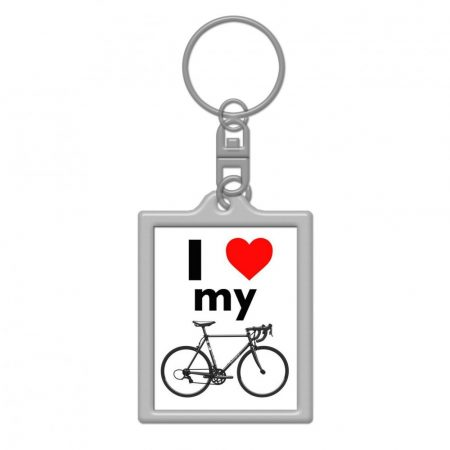 I love my roadbike kulcstartó 35x45mm
