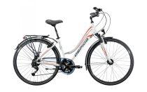 Gepida Alboin 300 női trekking kerékpár női vázas 48 cm Fehér