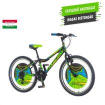 KPC Magnito 24 fekete-zöld gyerek kerékpár
