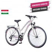 KPC Terra Lady női trekking kerékpár Fehér-Lila 1280111