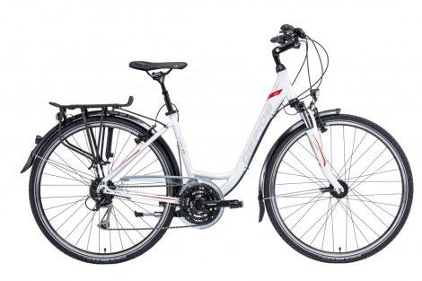 Gepida Alboin 300 női trekking kerékpár alacsony vázas 50 cm Fehér