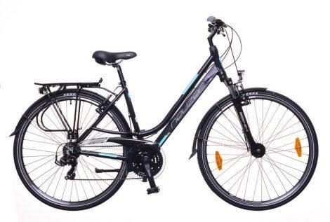 """Neuzer Ravenna 100 női 17"""" trekking kerékpár Fekete"""