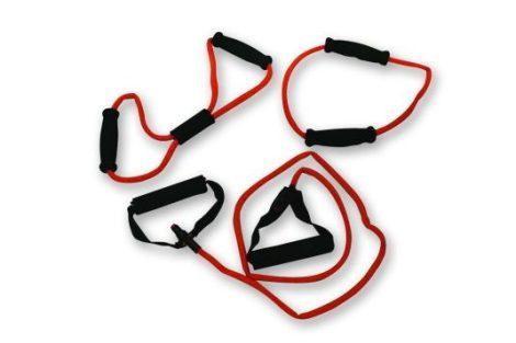 Tunturi fitnesz gumikötél szett 3 db-os (piros, erős ellenállású)