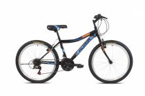 """Adria Stinger 24"""" gyerek kerékpár Fekete-Kék-Narancs"""