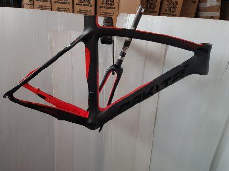 Nakita Omega országúti karbon váz 55 cm vázmérettel fekete-piros