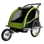 Velostar gyermek csomag és jogging utánfutó zöld