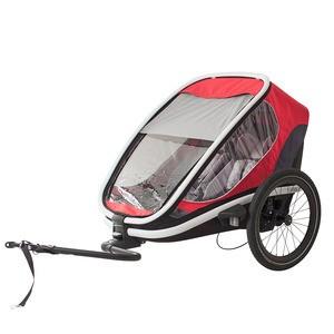 Hamax Outback kerékpár utánfutó piros-szürke-fekete