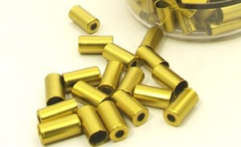 Alhonga 5 mm réz fékbowdenház vég arany