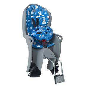 Hamax Kiss gyerekülés vázra sisakkal szürke-kék