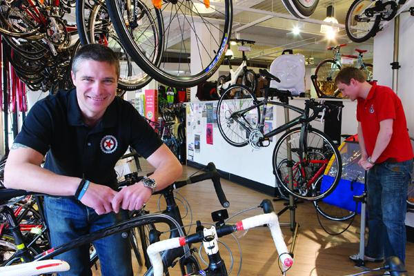 Kerékpárbolti eladó