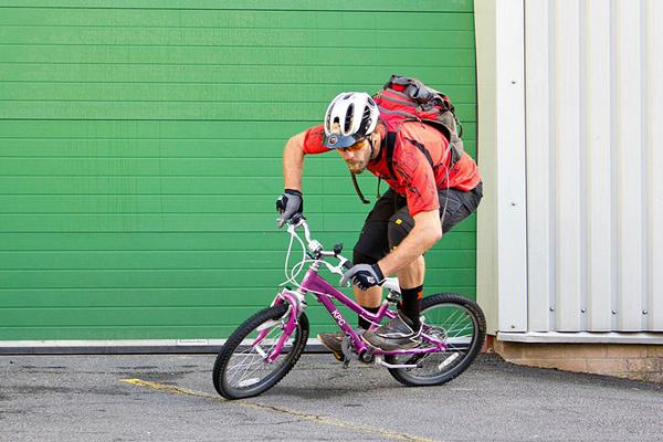 Nem megfelelő méretű kerékpár
