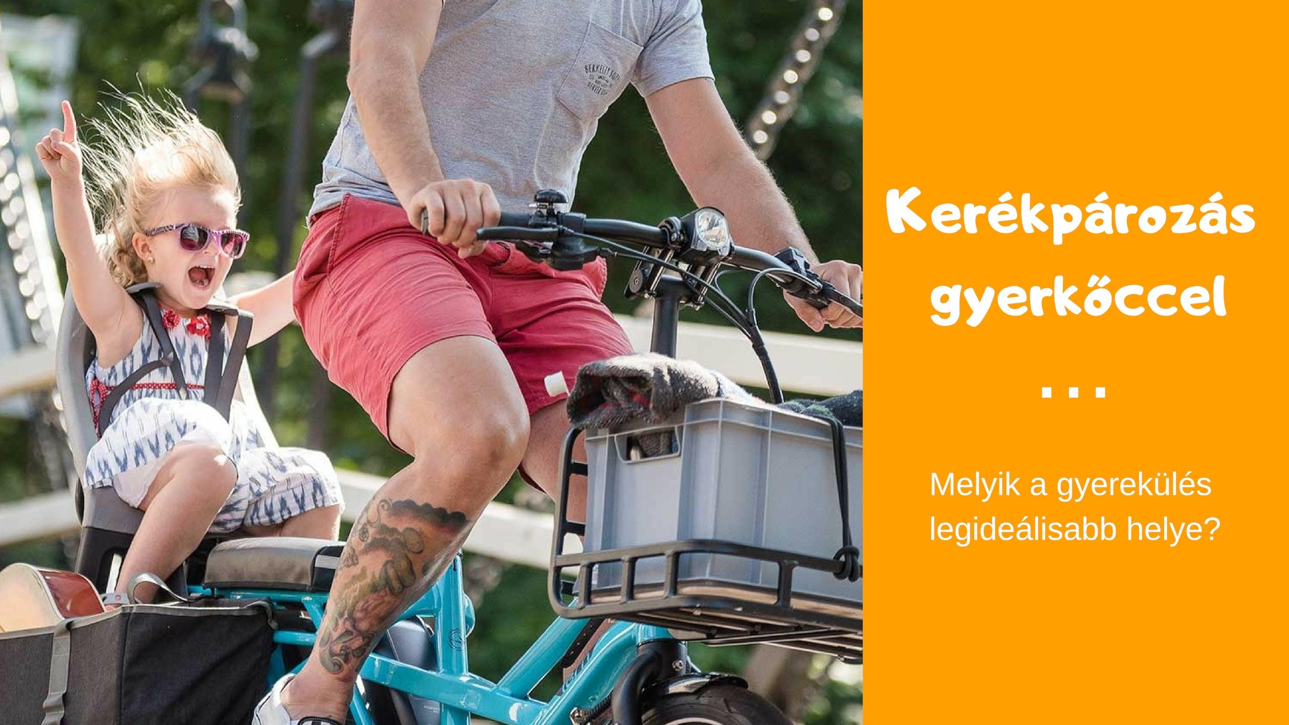 A kerékpár gyerekülés ideális helye