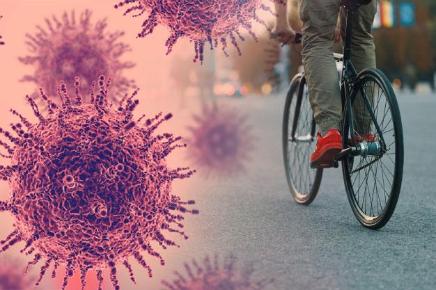 kerékpározás koronavírus idején