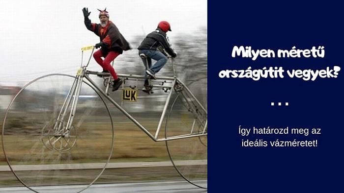 országúti kerékpár váz méret