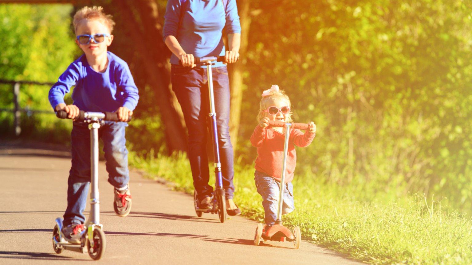 rollerező család