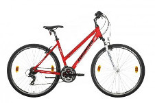piros Gepida női kerékpár