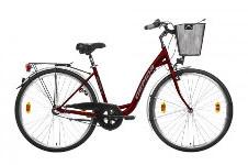 Női városi biciklik alacsony vázzal