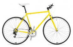 sárga országúti kerékpár, versenybicikli
