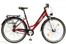 piros városi kerékpár (city)